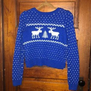 Abercrombie & Fitch Tops - Cute Blue Christmas Sweater